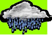 陰時多雲短暫雨